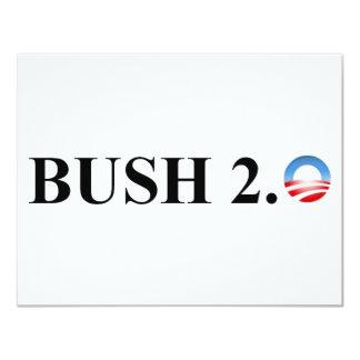 """BUSH 2,0 INVITACIÓN 4.25"""" X 5.5"""""""