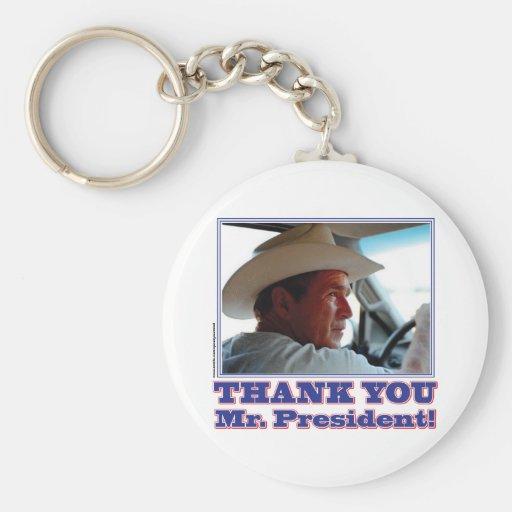 Bush-Agradecer-usted Llaveros Personalizados