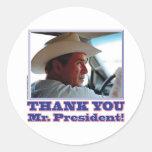 Bush-Agradecer-usted Pegatinas
