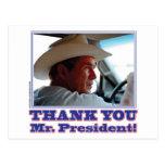 Bush-Agradecer-usted Tarjeta Postal