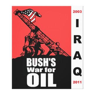 Bush Anti Iraq War Cartoon by Latuff Canvas Canvas Print