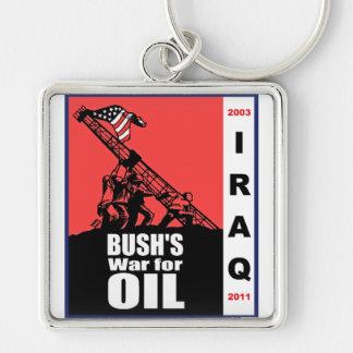 Bush Anti Iraq War Cartoon by Latuff Keychain