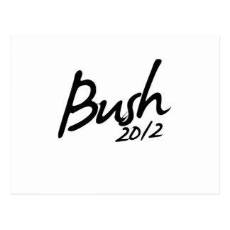 BUSH AUTOGRAPH 2012 POSTCARD