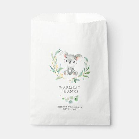 Bush Baby Koala Baby Shower Favor Bags