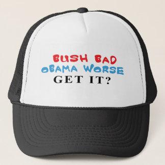 Bush Bad Obama Worse caps