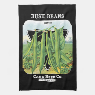 Bush Beans Seed Packet Label Hand Towels