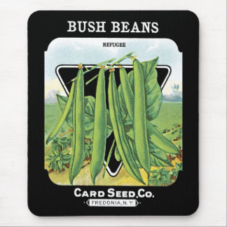 Bush Beans Seed Packet Label Mouse Pad