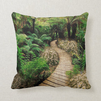 Bush Boardwalk on Beautiful Burlap Design Cushion