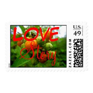 Bush buds Wedding Postage