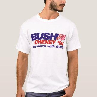 Bush/Cheney '04: ¿Usted abajo con el GOP? Playera