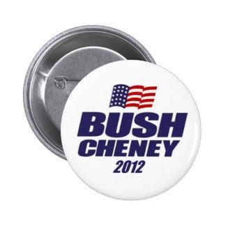Bush Cheney 2012 Button
