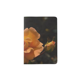 Bush color de rosa anaranjado porta pasaportes