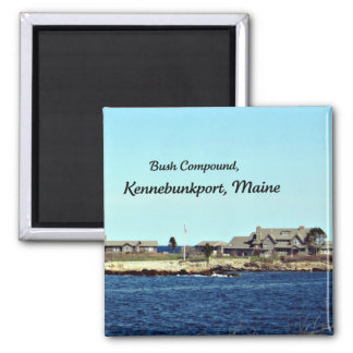Bush Compound, Kennebunkport, Maine 2 Inch Square Magnet