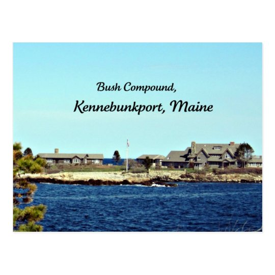 Bush Compound Kennebunkport Maine Postcard Zazzle Com