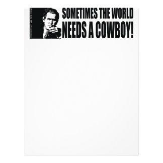 Bush Cowboy Personalized Letterhead