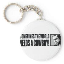BUSH--COWBOY-White Keychain