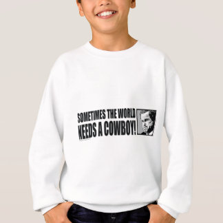 BUSH--COWBOY-White Sweatshirt