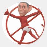 Bush-el mejor pegatina redonda