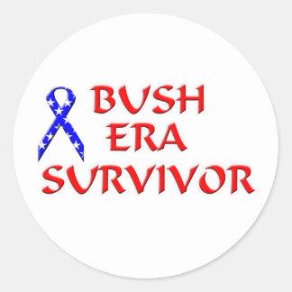 Bush Era Survivor Round Stickers