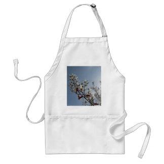 Bush floreciente blanco el Sun Delantal