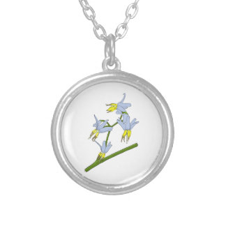 Bush Flowers Silver Plated Necklace