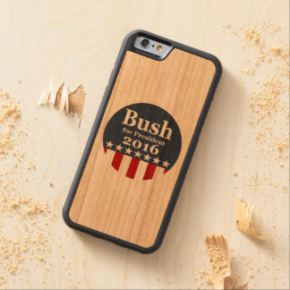 Bush for President 2016 Carved Cherry iPhone 6 Bumper Case