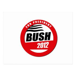 BUSH FOR PRESIDENT BUTTON POSTCARD