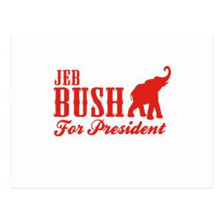 BUSH FOR PRESIDENT (GOP) POSTCARD