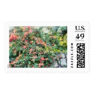 Bush full of flowers stamp