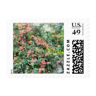 Bush full of flowers stamps