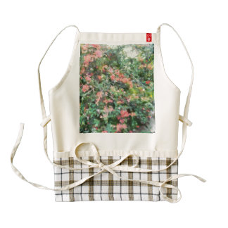 Bush full of flowers. zazzle HEART apron
