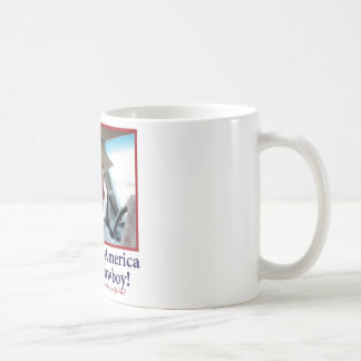 BUSH-HAT.-white-Cowboy-eps Coffee Mug