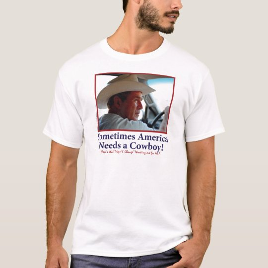 BUSH-HAT.-white-Cowboy-eps T-Shirt