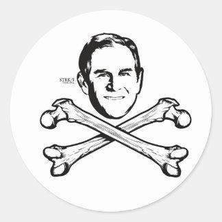 Bush Head and Crossbones Sticker