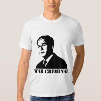 Bush is a War Criminal T-shirts