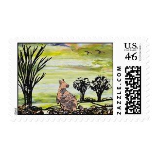 Bush Kangaroo Postage stamp