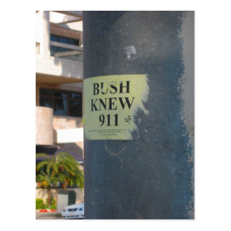 bush knew postcard