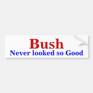 Bush, nunca parecido tan bueno pegatina para auto