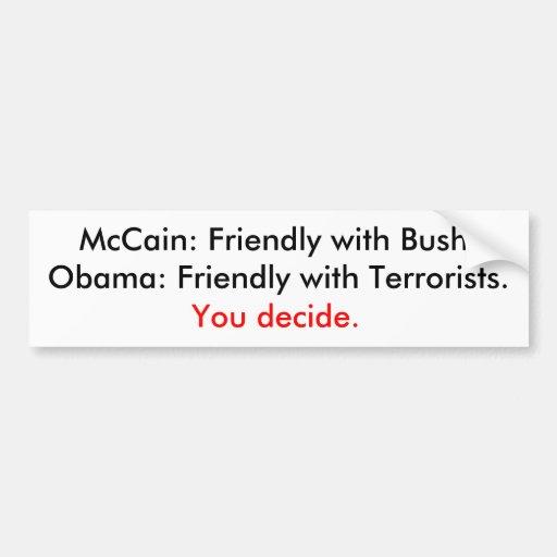 Bush o terroristas pegatina para auto