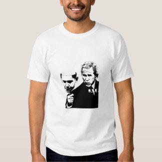 bush obama mask small tee shirt