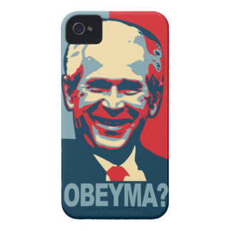 ¿Bush Obeyma? Case-Mate iPhone 4 Protectores