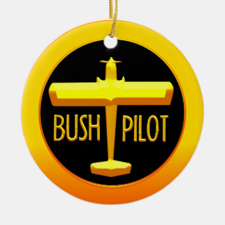 Bush Pilot Ceramic Ornament