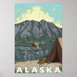 Bush Plane & Fishing - Denali Nat'l Park, Poster