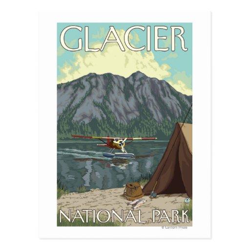 Bush plane fishing glacier national park mt postcard for Fishing in glacier national park