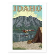 Bush Plane & Fishing - Idaho Postcard