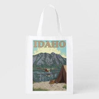 Bush Plane & Fishing - Idaho Reusable Grocery Bag