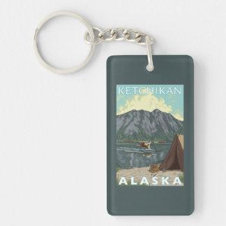 Bush Plane & Fishing - Ketchikan, Alaska Double-Sided Rectangular Acrylic Keychain