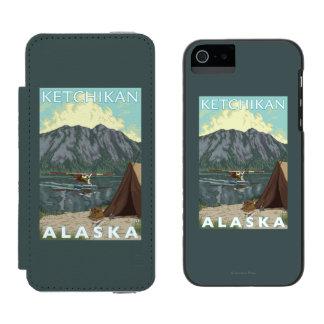 Bush Plane & Fishing - Ketchikan, Alaska iPhone SE/5/5s Wallet Case