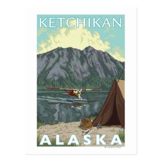 Bush Plane & Fishing - Ketchikan, Alaska Postcard