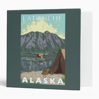 Bush Plane & Fishing - Latouche, Alaska 3 Ring Binder